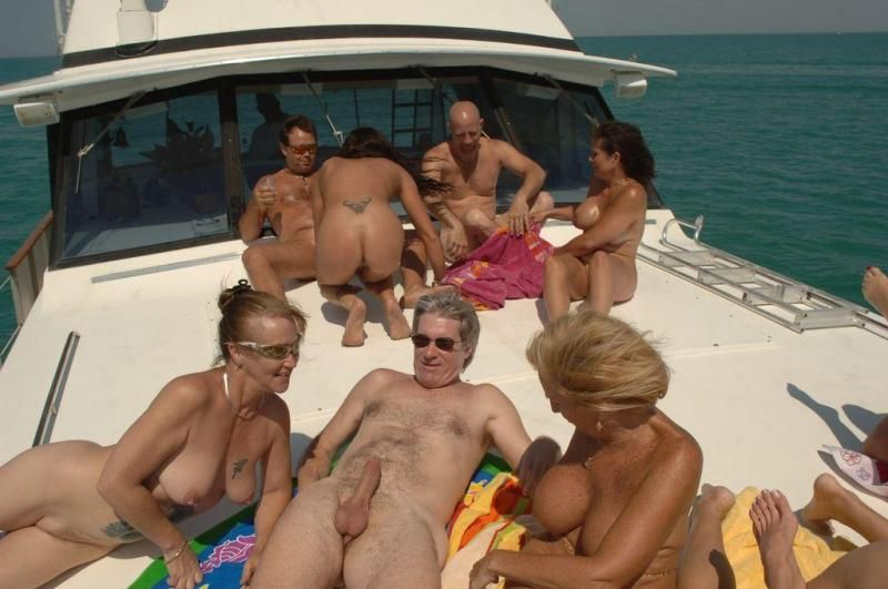 With orgy on a yacht porn